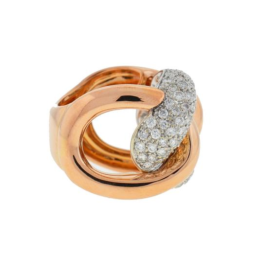 Other 18k Rose Gold Pave Diamond Free Form Rings Approx 2.32TCW Image 1