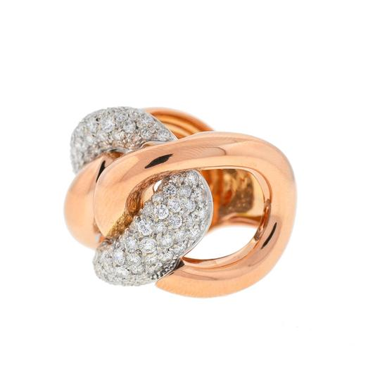 Other 18k Rose Gold Pave Diamond Free Form Rings Approx 2.32TCW Image 2