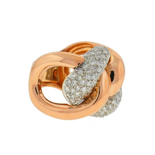 Other 18k Rose Gold Pave Diamond Free Form Rings Approx 2.32TCW Image 4