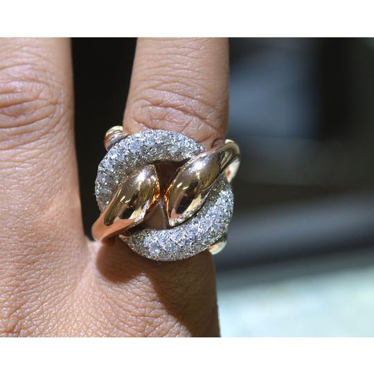 Other 18k Rose Gold Pave Diamond Free Form Rings Approx 2.32TCW Image 6