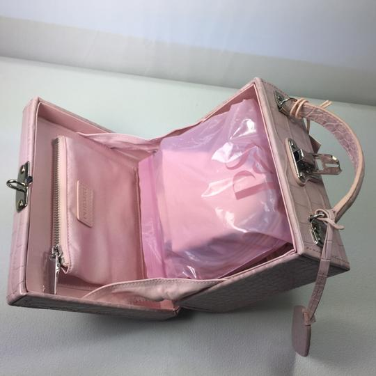 Pop and Suki Leather Camera Style Gold Hardware Pink Clutch Image 3