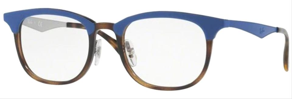 12c1333372d Ray-Ban Blue Havana Frame with Demo Lens Unisex Square Eyeglasses ...