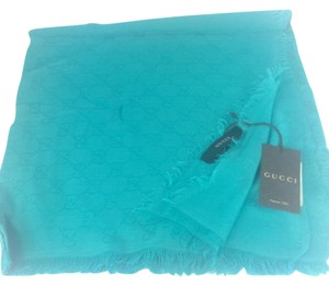 Gucci Gucci GG Monogram Shawl/ Scarf in Turquoise Blue, #307245