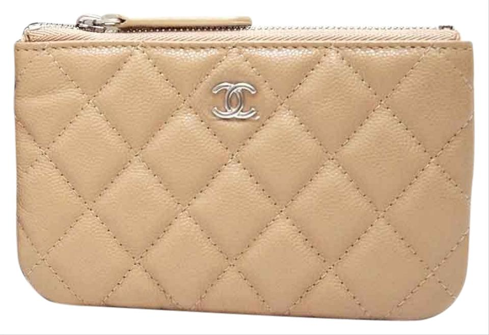 fcb109459 Chanel Small Beige Nude Caviar Leather O-Case Pouch for your Bag Image 0 ...