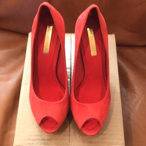 BCBGMAXAZRIA orange Pumps