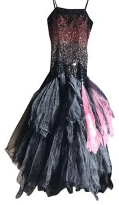 new styles a9cbb f7f87 Musani Couture Black with Pink and Nude Details Long Formal Dress Size 8  (M) 71% off retail