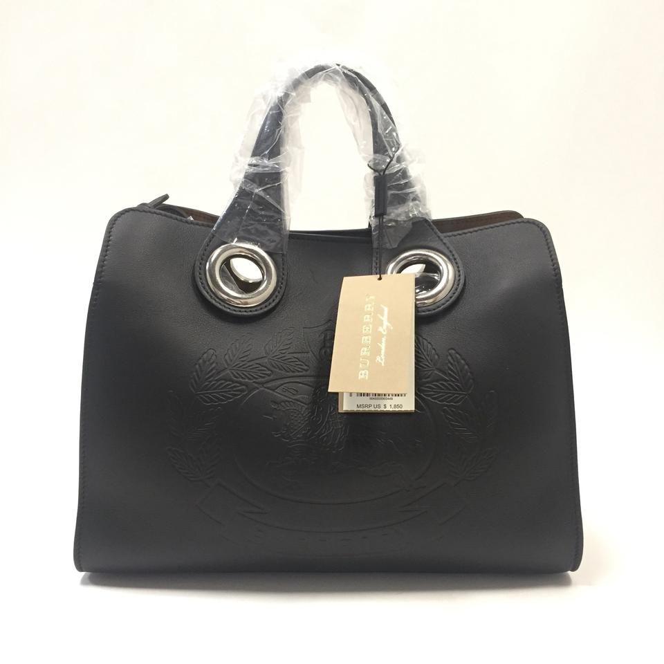 2c6f6ec5e4df Burberry London The Smooth Leather Crest Grommet Detail Small Black ...