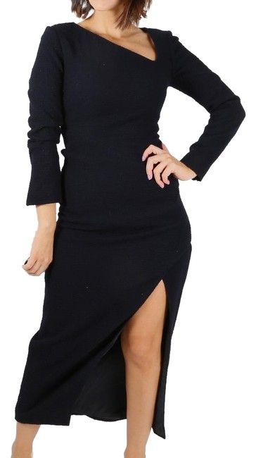Preload https://img-static.tradesy.com/item/24313394/carven-navy-blue-seersucker-long-sleeve-sheath-mid-length-cocktail-dress-size-2-xs-0-3-650-650.jpg