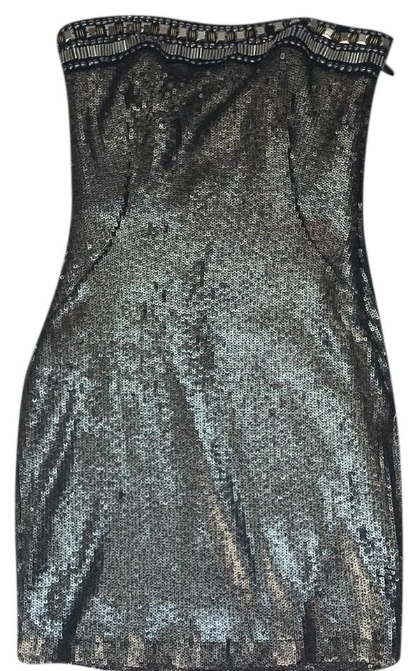 d2bfd6cb4073 bebe Bronze and Black Sequin Short Cocktail Dress Size 2 (XS) - Tradesy