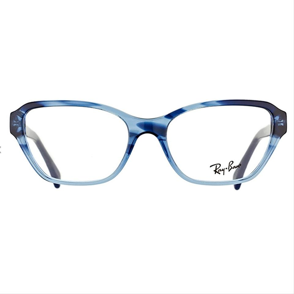 e4eef6abf24 Ray-Ban Striped Gradient Blue Frame   Demo Lens Women Square ...