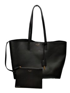 Saint Laurent Shopper Shopping Tote in Black