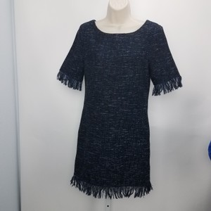 cupcakes and cashmere short dress Black Fringe Designer Texture Textured on Tradesy
