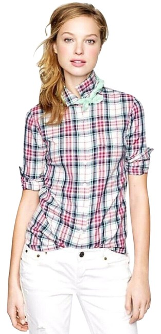 Preload https://img-static.tradesy.com/item/24313576/jcrew-pink-white-green-and-black-long-sleeve-plaid-shirt-button-down-top-size-4-s-0-6-650-650.jpg