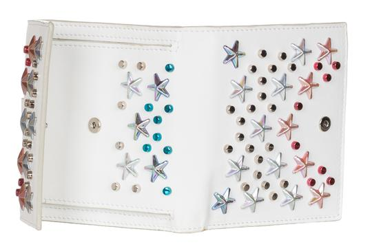 Jimmy Choo Jimmy Choo Women's White Leather Frida Stars Bi-fold Wallet Image 3