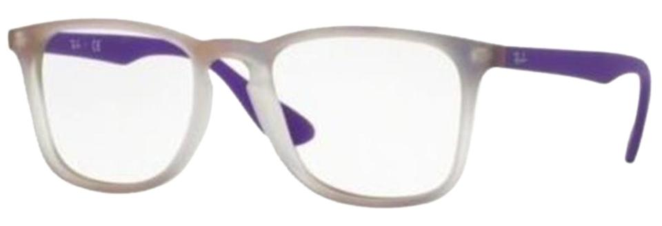 ecf51ced00 Ray-Ban Grey Violet Frame   Demo Lens Unisex Square Eyeglasses - Tradesy