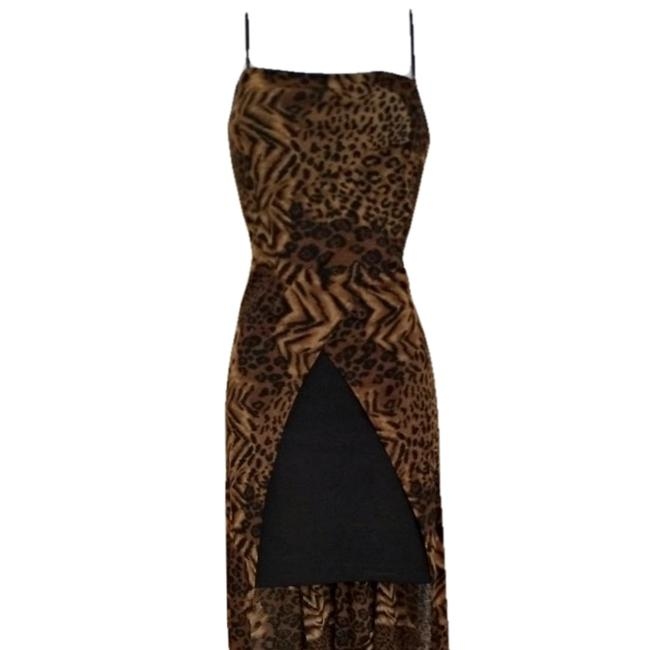 Vintage Retro Leopard Cheetah Y2k Dress Image 1
