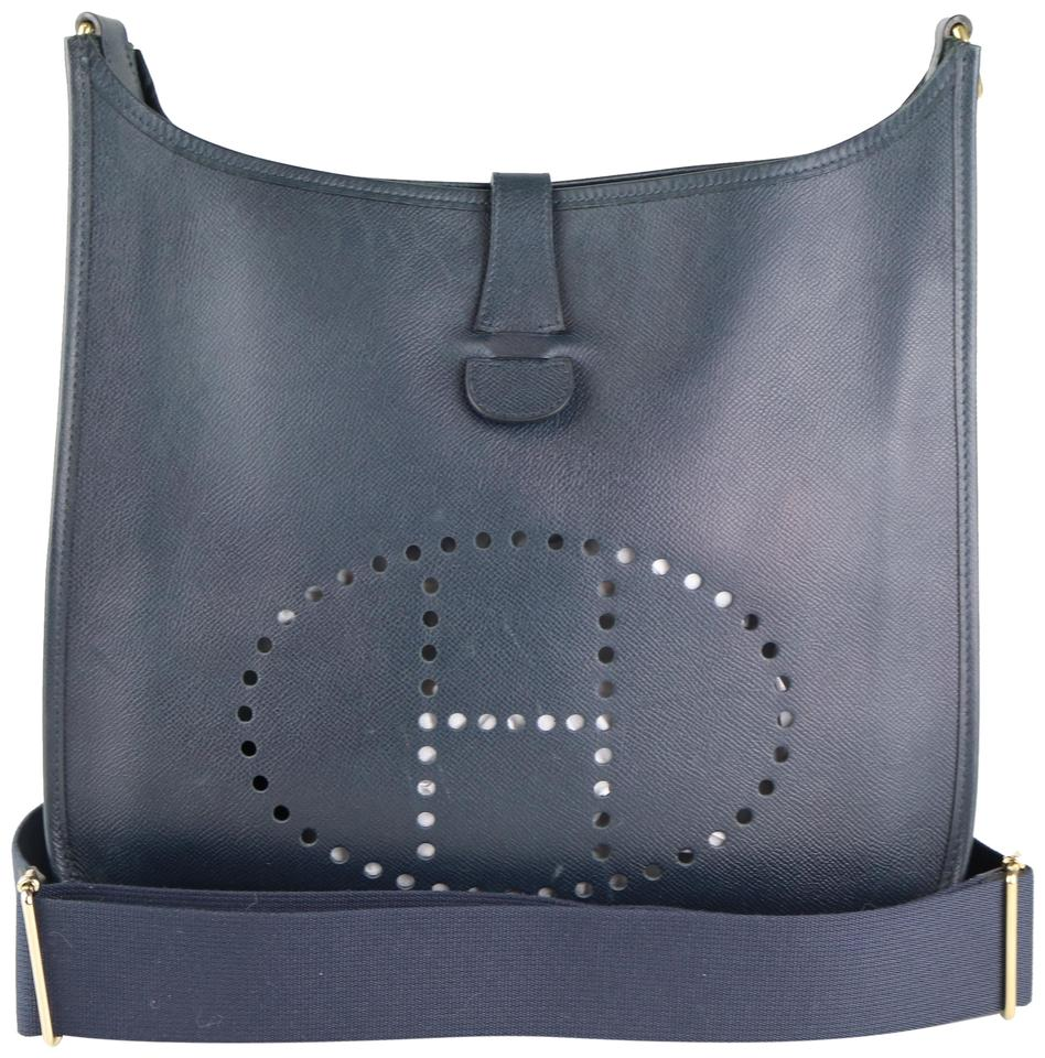 a19bd53c48 Hermès Evelyne Gm Gm Crossbody Evelyne Blue Shoulder Bag Image 0 ...