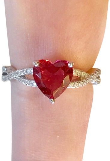 Preload https://img-static.tradesy.com/item/24313700/2-ctw-ruby-and-white-sapphire-heart-shaped-sterling-ring-0-3-540-540.jpg