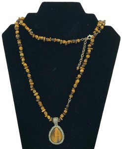WK CHINA 925 STER Silver Tiger's Eye Necklace & Pendant