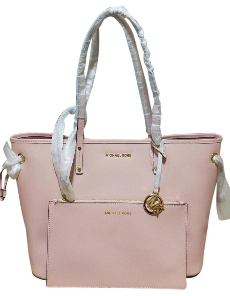 e8320955fa5bc8 Michael Kors Shoulder Bag W Drawstring Pouch Pink Leather Tote - Tradesy