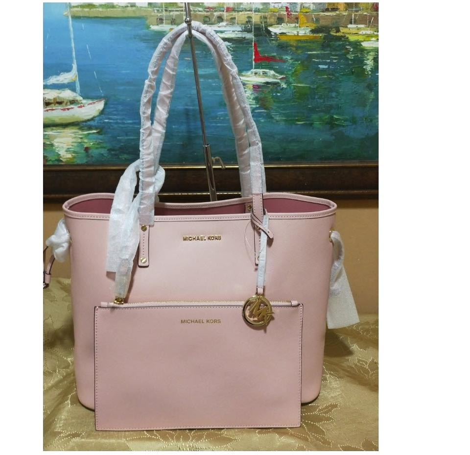 663104aa342f Michael Kors Shoulder Bag W Drawstring Pouch Pink Leather Tote - Tradesy