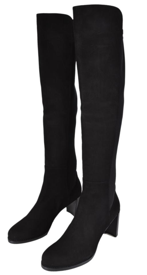 08ad25faece Stuart Weitzman Black New Stretch Suede Lowjack Over The Knee Boots ...