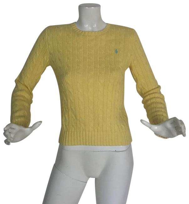 Preload https://img-static.tradesy.com/item/24313943/ralph-lauren-collection-women-cable-knitted-m-yellow-sweater-0-3-650-650.jpg