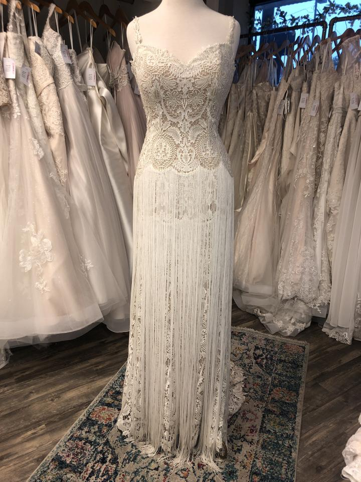 Lace Vintage Wedding Dress.Lillian West Nude Cream Lace 6495 Vintage Wedding Dress Size 6 S 53 Off Retail