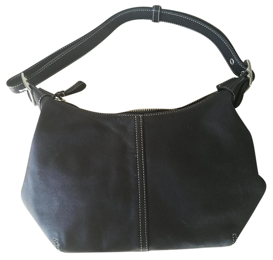 c4ceece381 Coach Style 9566 Black Leather Hobo Bag 84% off retail