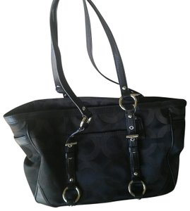 Coach Patent Carryall Tote in Black