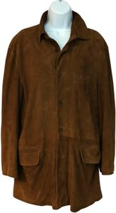 Facconable Suede Brown Leather Jacket