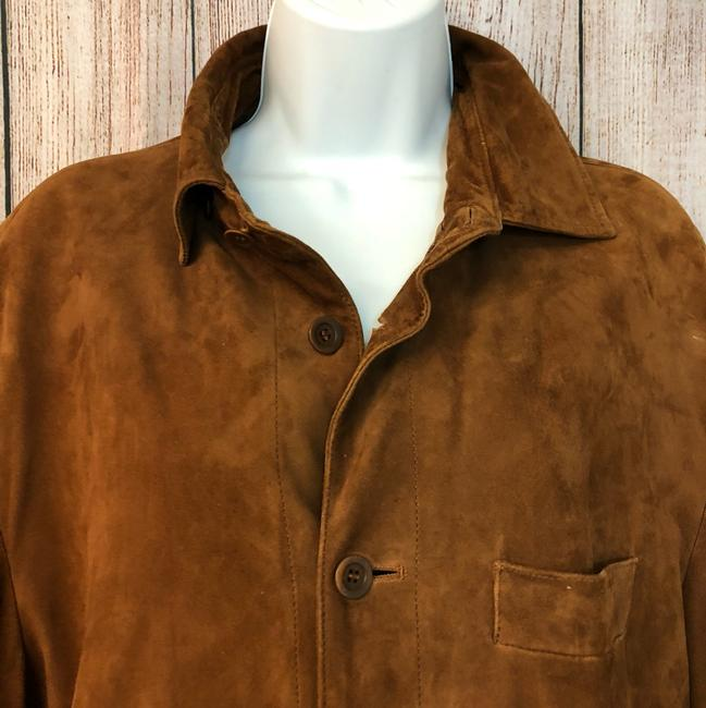 Facconable Suede Brown Leather Jacket Image 1