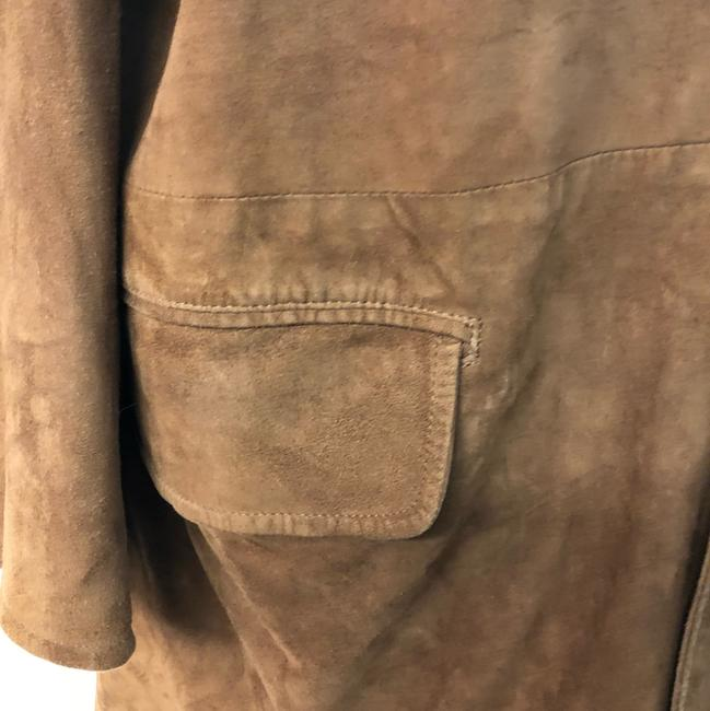Facconable Suede Brown Leather Jacket Image 2