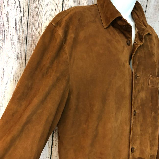 Facconable Suede Brown Leather Jacket Image 3