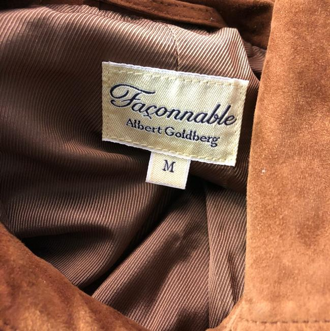 Facconable Suede Brown Leather Jacket Image 4