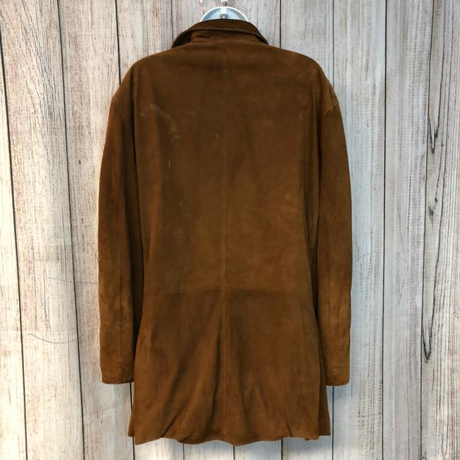 Facconable Suede Brown Leather Jacket Image 5