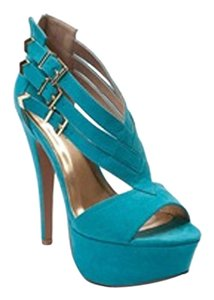 Shi by Journey New With Box Stiletto Turquois Platforms