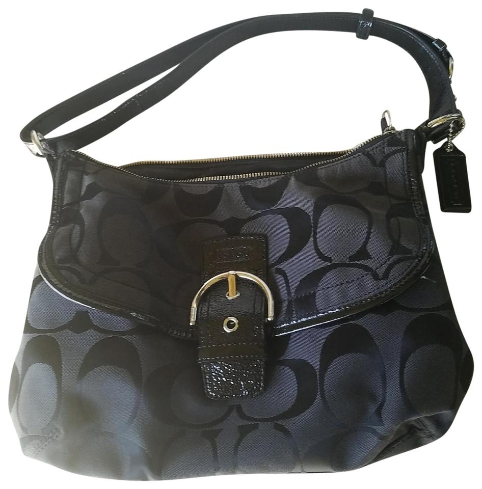 5c6a1debc43c ... large black leather tote 71d7b 8801c promo code for coach tote in black  3d116 8d433 ...