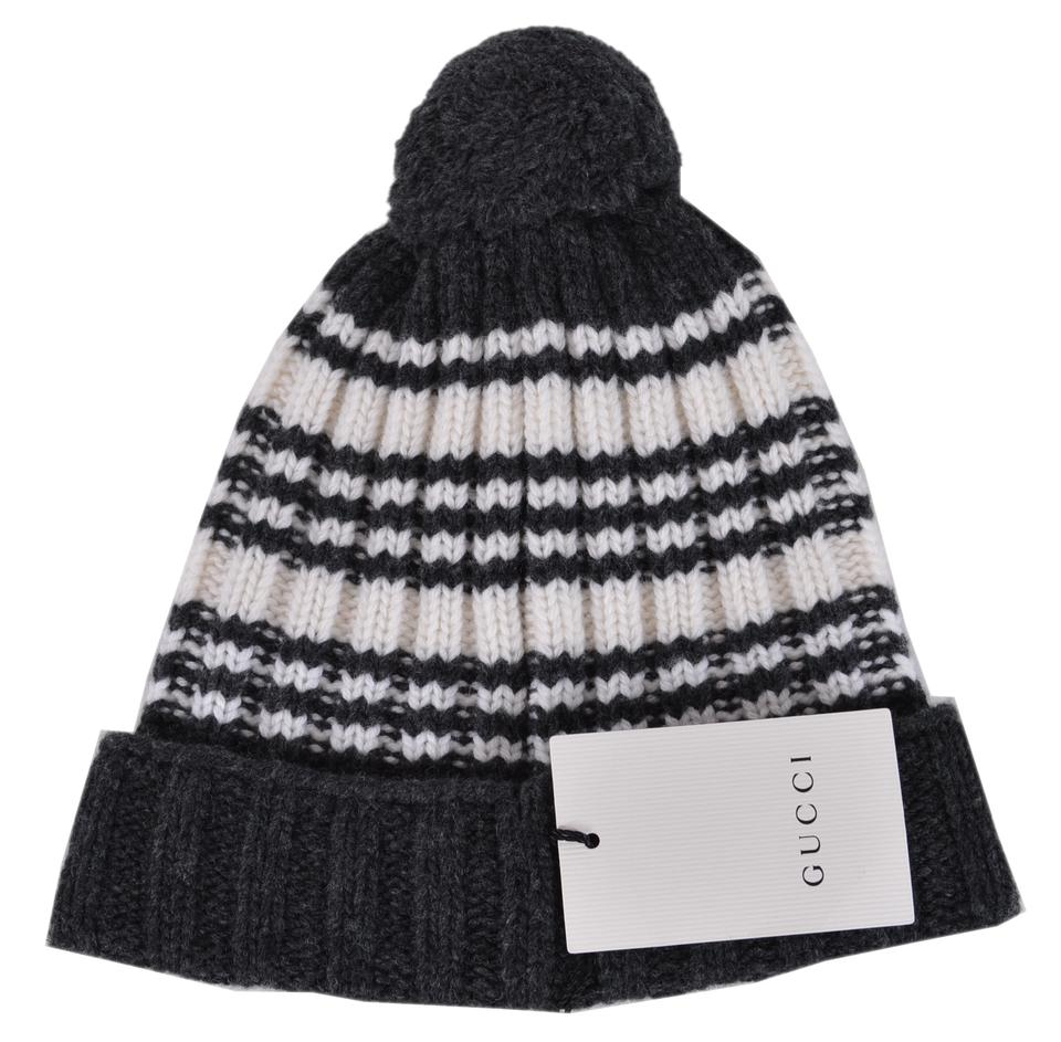 7ae3bcba409d7 Gucci Multicolor New 415211 Wool Striped Beanie Ski Hat - Tradesy