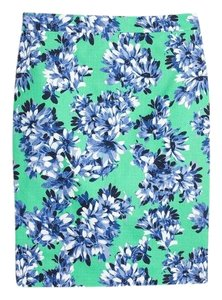 J.Crew Business Casual Fitted Pencil Skirt Floral