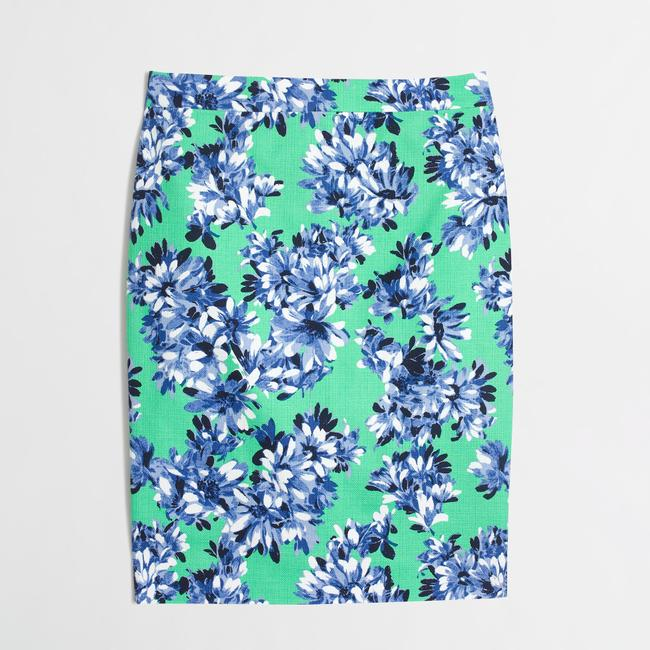 J.Crew Business Casual Fitted Pencil Skirt Floral Image 2