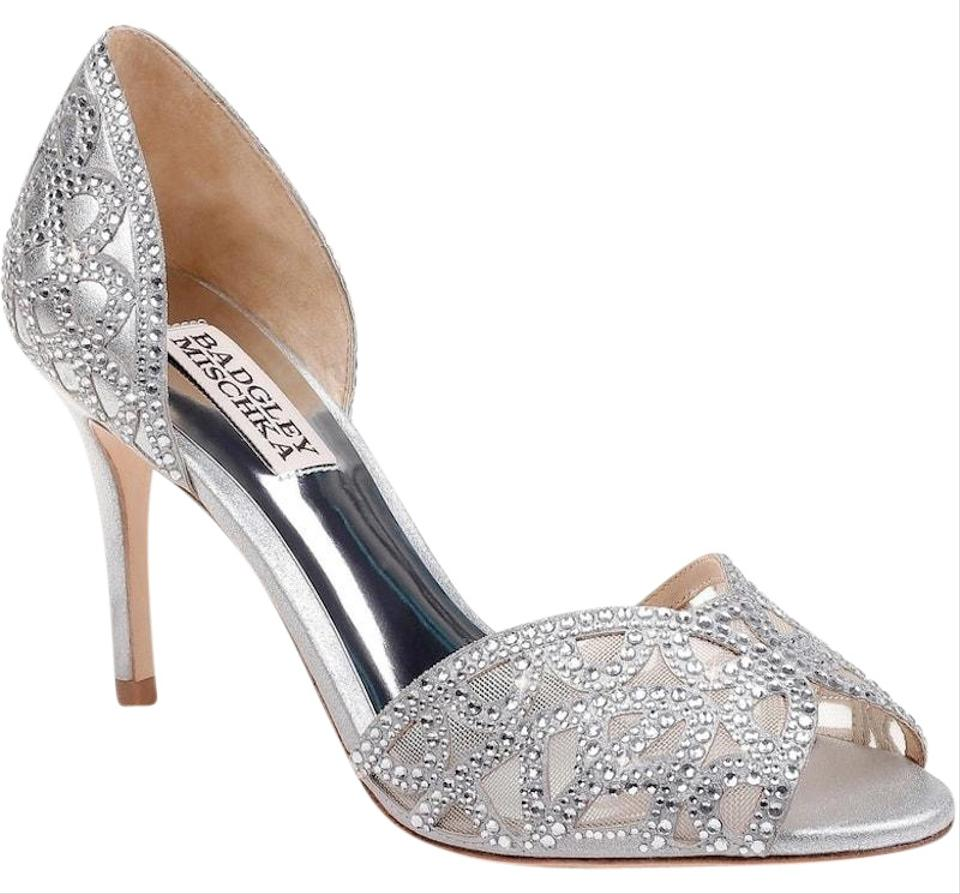 1f7f7b95e6e Badgley Mischka Silver Harris Formal Shoes Size US 7 Regular (M