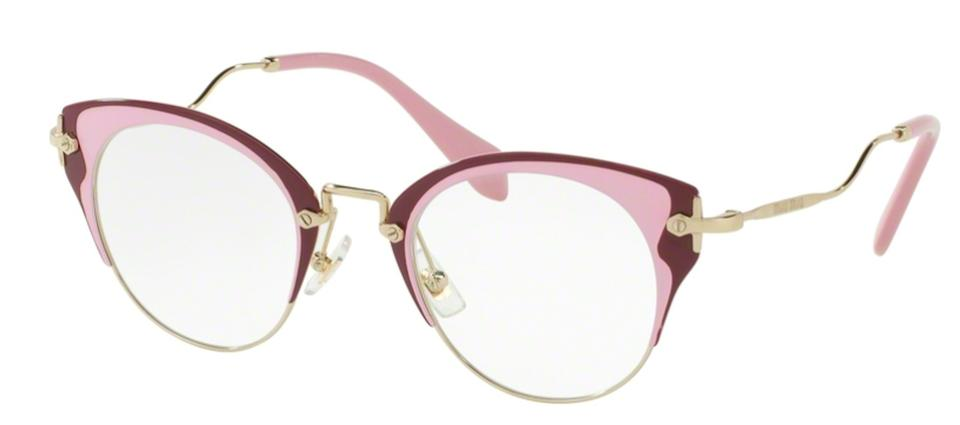 ab6294ebe5b Miu Miu Pink Gold New Cat Eye Optical Eye Glasses Vmu 52p U65101 Free 3 Day  Shipping Sunglasses