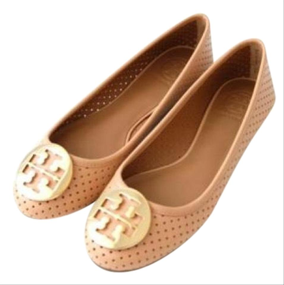 414c4131696 Tory Burch Blush Nude Sable Perforated Reva Ballet Flats Size US 9.5 ...