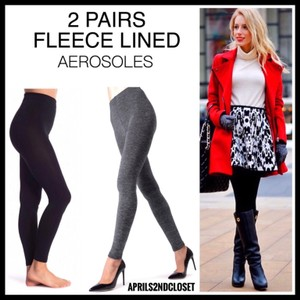 Aerosoles Black, Grey Leggings