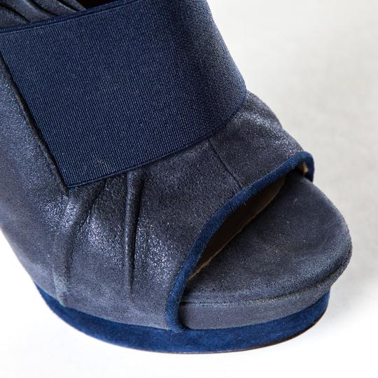 Versace Blue Pumps Image 5