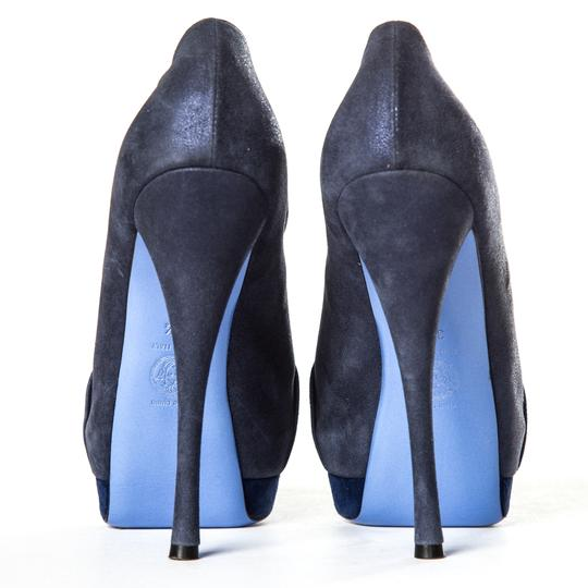 Versace Blue Pumps Image 6
