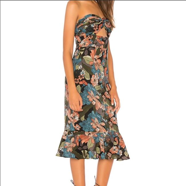 About Us short dress black floral on Tradesy Image 1