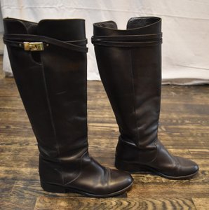 Jimmy Choo Knee High Leather Winter Brown Boots
