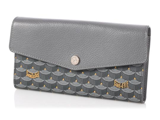 Fauré Le Page **SOLD ON AFC**GRAY RABAT CHAIN WOC WALLET Image 1